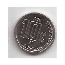 Mexico Moneda De 10 Centavos Año 1995 !!