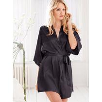 Bata Jacket De Seda Victoria Secret Original Importada