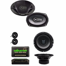 Combo Monster X6903 3 Vias 100 Rms+ Componentes X60 85 Rms
