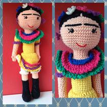 Frida Kahlo Muñeca Amigurumi Crochet Amigurumis