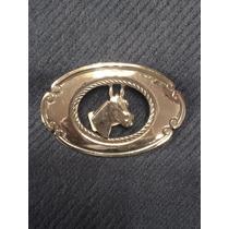 Hebilla Cinturón Alpaca C/baño Plata. Cabeza Caballo Cordon