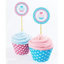 25 Toppers Para Cupcakes Con Diseño Personalizado
