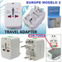Enchufe Universal Adaptador Viajero Todo En 1 Europe + Funda