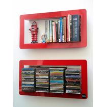 Estante Multiuso Marco Libro Objetos Cd Dvd Chapa Colores