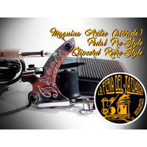 Maquina De Tatuar Aztec (hibrida) + Pedal+clipcord - Tattoo