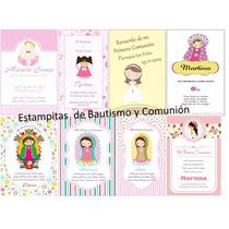 Estampitas,tarjetas Personalizados Para Bautismo Y Comunion