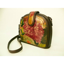 Cartera Dama 3 Divisiones Cuero Flor!!! Guns Leather Fábrica