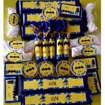Candy Bar De Batman - Superhéroe !! 10 Chicos/60 Golosinas