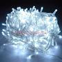 Luces Led Navidad X 100 Blanco Frio Cable Transparente