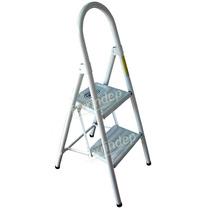Escalera 2 Escalones Plegable Metal Super Resistente 50cm