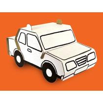 Auto De Policia P/ Armar Y Colorear Juguete Ecologico Carton
