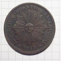 Uruguay 1, 2 Y 4 Ctvos 1869 Muy Linda Letras A O H