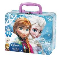 Rompecabeza Y Lunchera De Frozen En Lata Original