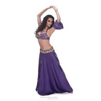 Traje Piedras, Perlas, Strass Violeta Danza Arabe Bellydance