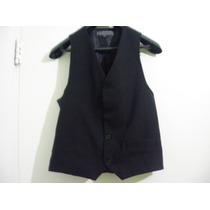 Chaleco Vestir Elegante Calidad Negro T Xs Imperdible Regalo