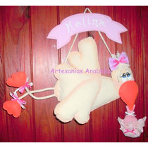 Cartel De Cigüeña Bienvenida Al Bebé, Nacimiento, Babyshower