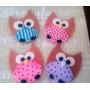 Adornos Para Cupcakes Tortas Cookies Buhos Infantiles Bautis