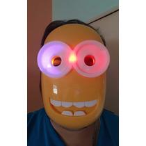 Máscara Luz Led Minions Brilla En Oscuridad Caballito