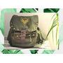 Mochila Backpack Tela Diseño Apliques Tachas
