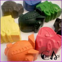 Crayones - Souvenirs - Avión Auto Barco Tren - Pack X 24