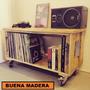 Mesa Auxiliar Rustica C/ruedas Estilo Palet // Buena Madera