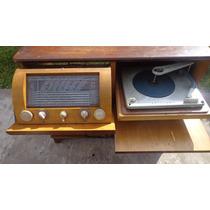 Combinado Tocadisco Antiguo Musica Mueble Vidrieras Locales