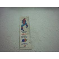 Antigua Regla Cartòn Hombre Araña Cuadernos Laprida Años 80