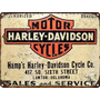 Carteles Antiguos 45x30 Chapa Gruesa Harley Davidson Mot-434