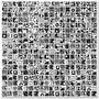 Malla Piu Mosaico Black Y White 30x30