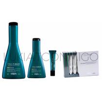 Shampoo + Acondicionador + Ampollas Pro Fiber Loreal Restore