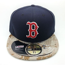 Gorra Cap Boston Red Sox New Era Camuflada Navy