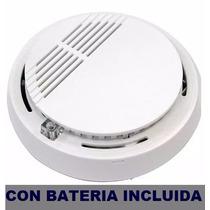 Sensor Detector Humo Cert Bateria 9 Vcc Incluida !!