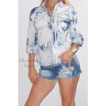 Camisa Jeans-mujer-prelavada-batik-la Mas Linda!- Filomena L
