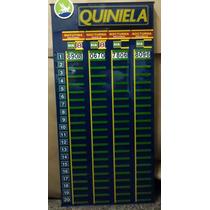 Cartel 4 Quinielas Agencias De Loteria Quiniela -congreso