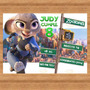 Kit Imprimible Zootopia Invitaciones Candy Bar Cotillón