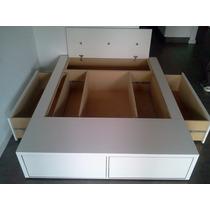 Base Box Somier Cama 2 Plazas 4 Cajones Bauleras Fabricante