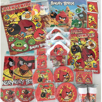 Kit Cotillon Angry Birds, Baby Shower,bueno, Bonito Y Barato