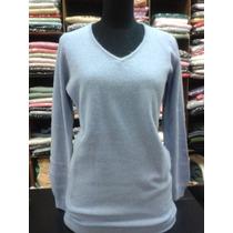 Sweater Largo Bremer Escote V Entallado Talle S Ideal Calzas