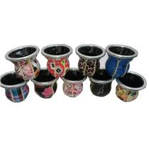 Pack De 10 Mates De Vidrio Forrados Con Diseños Originales