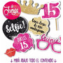 Photo Booth Cumple 15 Años Glitter Imprimible Props