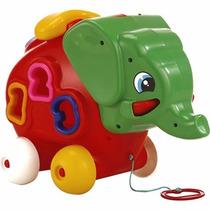 Elefante Arrastre Y Encastre Calesita - Jugueteria Aplausos