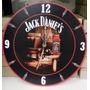 Jack Daniels Reloj De Pared De Madera Decorativo Whisky