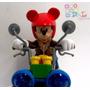 Auto Colección Moto Mickey Motorama Original Disney Miralo