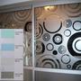 Vinilos Decorativos Línea Esmerilados 100 Diseños A Elección