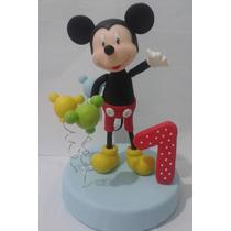 Mickey Mouse,adorno Para Torta En Porcelana Fria