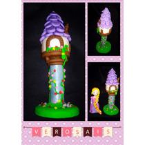 Adorno De Torta Torre Rapunzel Porcelana Fria Frozen
