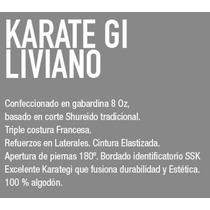 Karate - Gi Blanco. Mediano 9oz Gabard. Talle 2 - 3