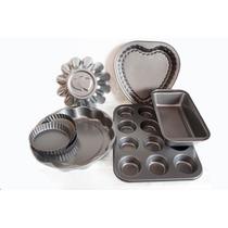 Set Teflon Premium Reposteria Muffins +moldes Varios Oferta!