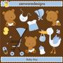 Kit Imprimible Ositos Bebes Nene Imagenes Clipart Babyshower