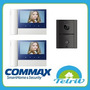 Kit Portero Visor Color Commax Cdv-70n Con Dos Monitores